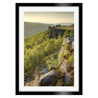 136_Sunset_Over_Froggatt_Edge_Portrait_Framed