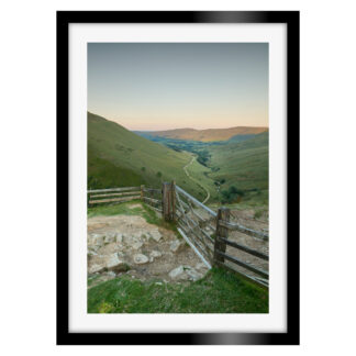 162_Jacobs_Ladder_Sunset_Portrait_Framed