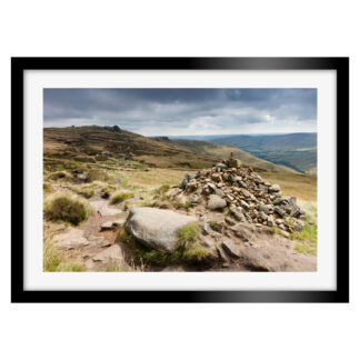 166_Kinder_Scout_Cairn_Framed