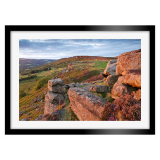 175_Baslow_Edge_Sunset_Framed