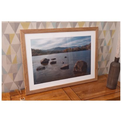 Autumnal Rydal Wate Tranquillity Print Framed