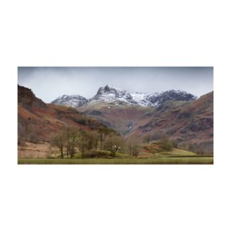 Langdale Pikes Snow Panoramic