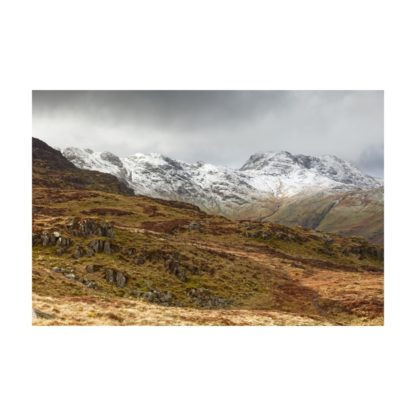 Bow Fell and Crinkle Crags Snow
