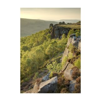 Sunset Over Froggatt Edge Portrait