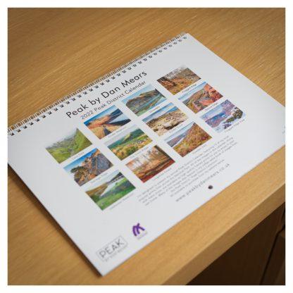 2022 Peak District Calendar Rear Cover