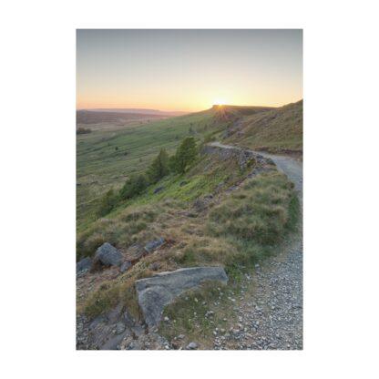 Stanage Edge Sunset Portrait A4