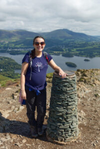 Kirsty on the summit of Catbells