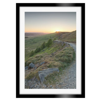 Stanage Edge Sunset Portrait