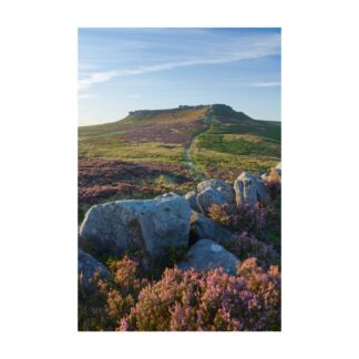 Sunset Over Higger Tor Portrait