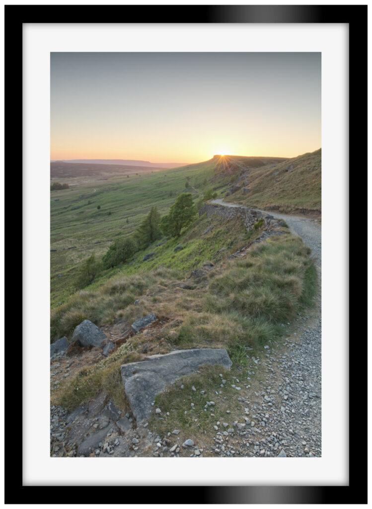 Stanage Edge Sunset Portrait